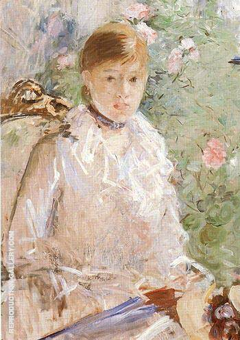 Reproduction of Summer Young Woman by a Window 1878 by Berthe Morisot | Oil Painting Replica On CanvasReproduction Gallery