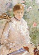 Summer Young Woman by a Window 1878 By Berthe Morisot
