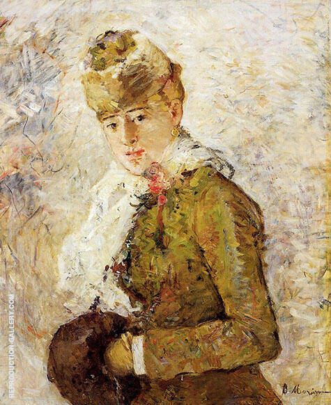 Winter Woman with a Muff 1880 By Berthe Morisot Replica Paintings on Canvas - Reproduction Gallery