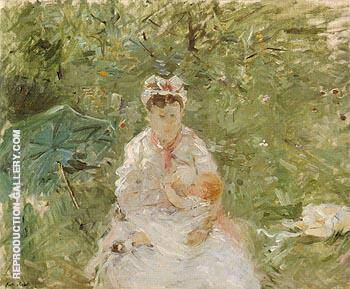 The Wet Nurse Angele Feeding Julie Manet 1880 By Berthe Morisot