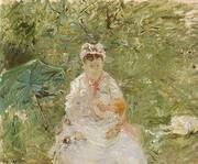 The Wet Nurse Angele Feeding Julie Manet 1880 By Berthe Morisot