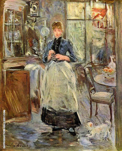 In the Dining Room 1886 Painting By Berthe Morisot - Reproduction Gallery