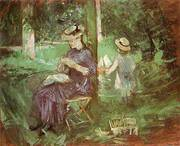 Woman and Child in a Garden 1884 By Berthe Morisot