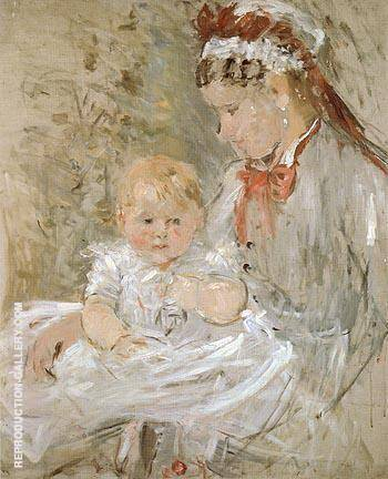 Julie with Her Nurse 1880 Painting By Berthe Morisot