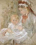 Julie with Her Nurse 1880 By Berthe Morisot