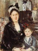 Portrait of Mme Boursier and her Daughter 1874 By Berthe Morisot
