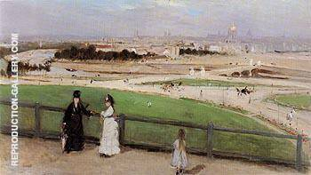 View of Paris From the Trocadero 1872 By Berthe Morisot