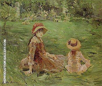 In the Garden Maurecourt 1884 By Berthe Morisot