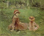 In the Garden Maurecourt 1884 By Berthe Morisot