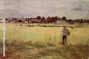 In the Wheatfield 1875 By Berthe Morisot - Oil Paintings & Art Reproductions - Reproduction Gallery