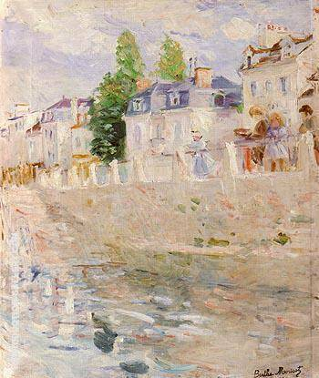 The Quay at Bougival 1883 By Berthe Morisot