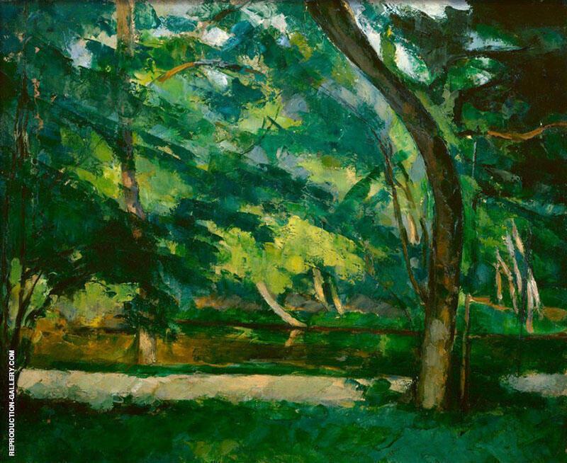 L'Etang des Soeurs Osny 1875 Painting By Paul Cezanne