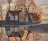 Farm at Duivendrecht 1905 By Piet Mondrian