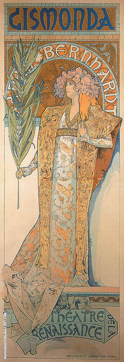 Gismonda 1890 By Alphonse Mucha
