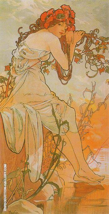 Summer (from the Seasons series) 1896 By Alphonse Mucha