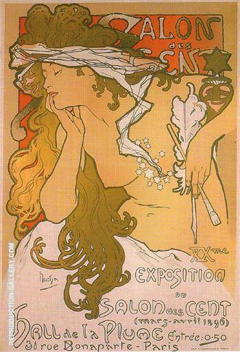 Salon des Cent 20 1896 By Alphonse Mucha