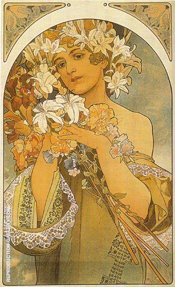 Flower 1897 Painting By Alphonse Mucha - Reproduction Gallery