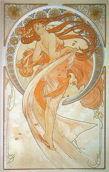 Dance 1898 By Alphonse Mucha