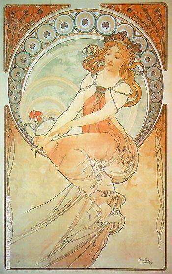 Painting 1898 By Alphonse Mucha