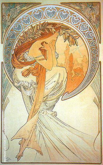 Poetry 1896 By Alphonse Mucha