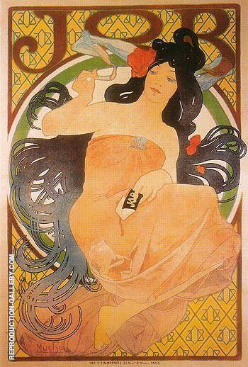 JOB 1898 By Alphonse Mucha - Oil Paintings & Art Reproductions - Reproduction Gallery