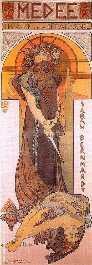 Medee 1896 By Alphonse Mucha Replica Paintings on Canvas - Reproduction Gallery