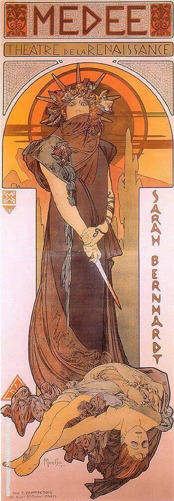 Medee 1896 By Alphonse Mucha