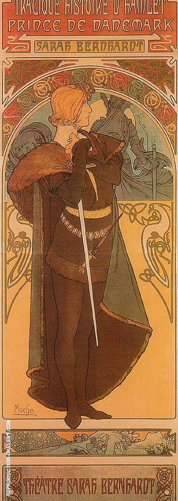 Hamlet 1899 Painting By Alphonse Mucha - Reproduction Gallery