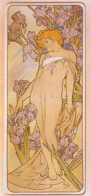 Iris 1898 Painting By Alphonse Mucha - Reproduction Gallery