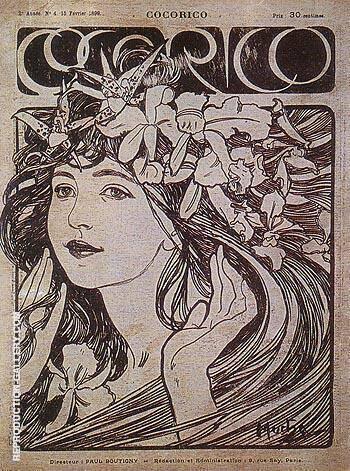 Cocorico 1899 By Alphonse Mucha