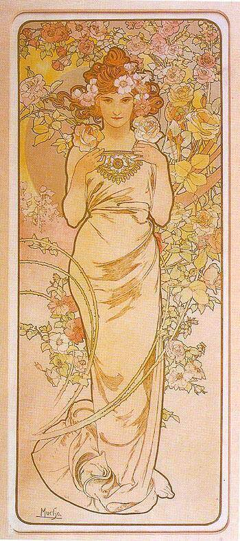 Rose 1898 By Alphonse Mucha