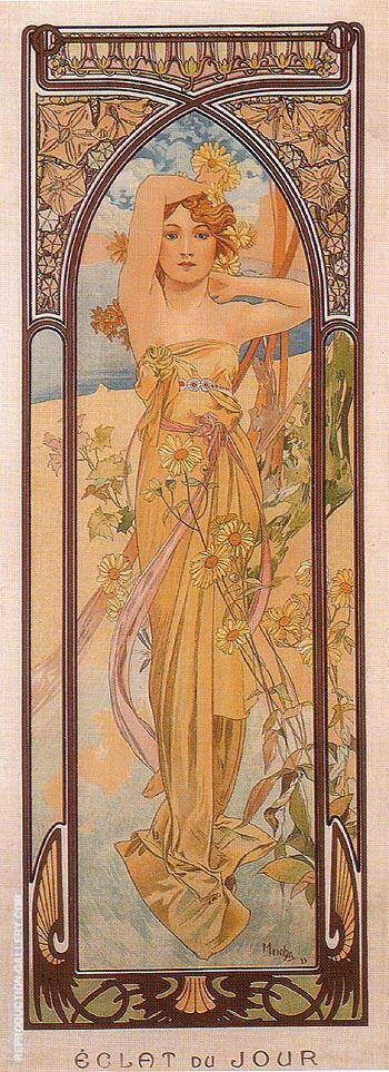 Daytime Dash 1899 Painting By Alphonse Mucha - Reproduction Gallery