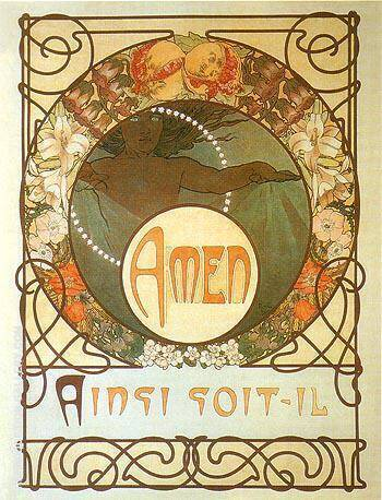 Amen By Alphonse Mucha - Oil Paintings & Art Reproductions - Reproduction Gallery