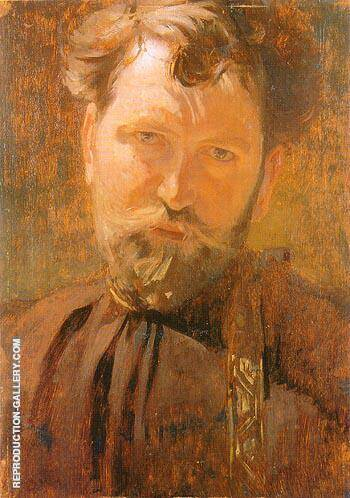 Self Portrait 1899 By Alphonse Mucha