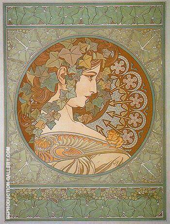 Ivy 1901 By Alphonse Mucha - Oil Paintings & Art Reproductions - Reproduction Gallery