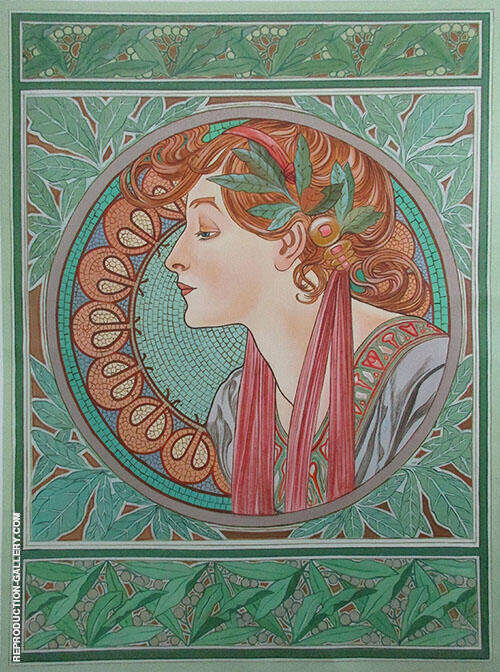 Laurel 1901 By Alphonse Mucha