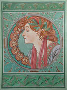 Laurel 1901 By Alphonse Mucha