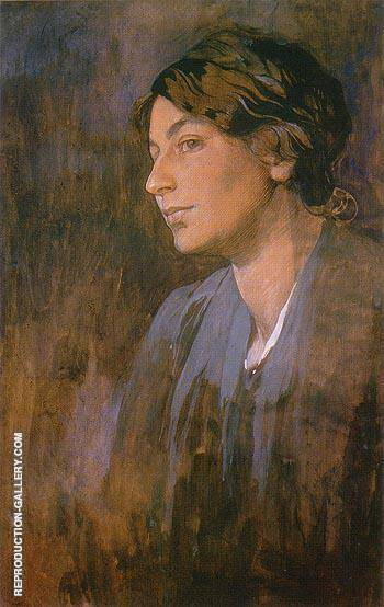 Maruska s Portrait 1903 By Alphonse Mucha - Oil Paintings & Art Reproductions - Reproduction Gallery