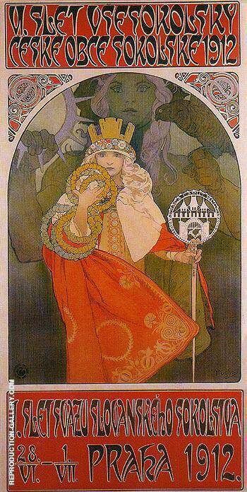 Sokol Festival 1912 By Alphonse Mucha