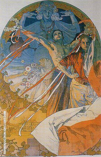 Sokol Festival 1925 By Alphonse Mucha - Oil Paintings & Art Reproductions - Reproduction Gallery