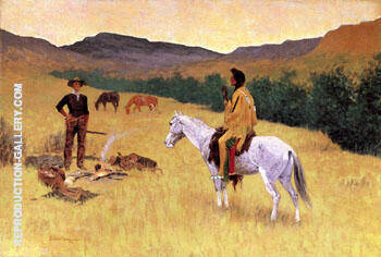 The Parley c1903 By Frederic Remington