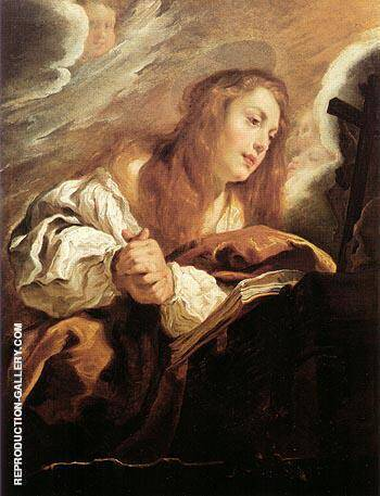 Saint Mary Magdalene Penitent 1615 By Domenico Fetti