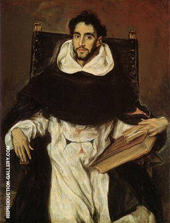 Fray Hortsensio Felix Paravincino 1609 By El Greco - Oil Paintings & Art Reproductions - Reproduction Gallery