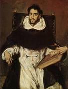 Fray Hortsensio Felix Paravincino 1609 By El Greco