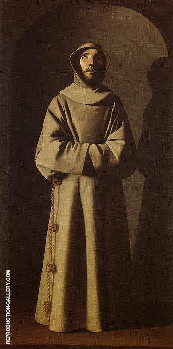 Saint Francis 1640 By Francisco De Zurbaran - Oil Paintings & Art Reproductions - Reproduction Gallery