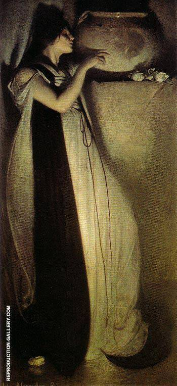 Isabella and the Pot of Basil 1897 By John White Alexander Replica Paintings on Canvas - Reproduction Gallery