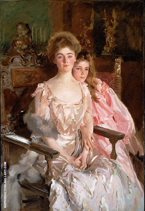 Mrs. Fiske Warren and her Daughter 1903 By John Singer Sargent - Oil Paintings & Art Reproductions - Reproduction Gallery