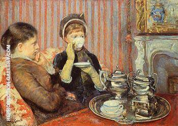 The Tea c1879 By Mary Cassatt - Oil Paintings & Art Reproductions - Reproduction Gallery