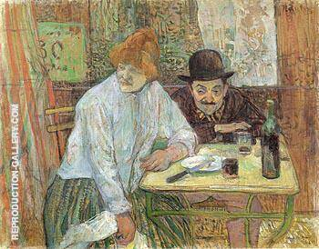 At the Cafe La Mie 1891 By Henri De Toulouse-lautrec - Oil Paintings & Art Reproductions - Reproduction Gallery