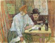 At the Cafe La Mie 1891 By Henri De Toulouse-lautrec